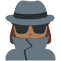 Woman Detective: Medium-Dark Skin Tone on Twitter Twemoji 11.1