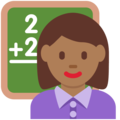 Woman Teacher: Medium-Dark Skin Tone on Twitter Twemoji 11.1