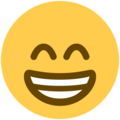 Beaming Face With Smiling Eyes on Twitter Twemoji 11.1