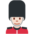 Guard: Light Skin Tone on Twitter Twemoji 11.1