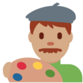 Man Artist: Medium Skin Tone on Twitter Twemoji 11.1