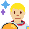 Man Astronaut: Medium-Light Skin Tone on Twitter Twemoji 11.1