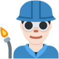 Man Factory Worker: Light Skin Tone on Twitter Twemoji 11.1