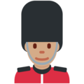 Man Guard: Medium Skin Tone on Twitter Twemoji 11.1