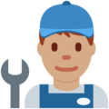 Man Mechanic: Medium Skin Tone on Twitter Twemoji 11.1