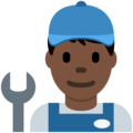 Man Mechanic: Dark Skin Tone on Twitter Twemoji 11.1