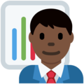 Man Office Worker: Dark Skin Tone on Twitter Twemoji 11.1