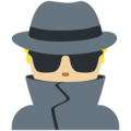 Man Detective: Medium-Light Skin Tone on Twitter Twemoji 11.1
