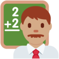Man Teacher: Medium Skin Tone on Twitter Twemoji 11.1