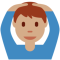 Man Gesturing OK: Medium Skin Tone on Twitter Twemoji 11.1