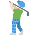 Man Golfing: Light Skin Tone on Twitter Twemoji 11.1