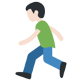 Man Running: Light Skin Tone on Twitter Twemoji 11.1