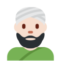 Man Wearing Turban: Light Skin Tone on Twitter Twemoji 11.1