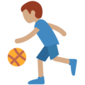 Man Bouncing Ball: Medium Skin Tone on Twitter Twemoji 11.1