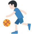 Person Bouncing Ball: Light Skin Tone on Twitter Twemoji 11.1