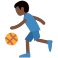 Person Bouncing Ball: Dark Skin Tone on Twitter Twemoji 11.1