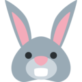 Rabbit Face on Twitter Twemoji 11.1