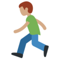 Person Running: Medium Skin Tone on Twitter Twemoji 11.1