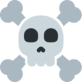 Skull and Crossbones on Twitter Twemoji 11.1