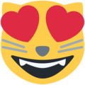 Smiling Cat Face With Heart-Eyes on Twitter Twemoji 11.1