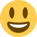 Grinning Face With Big Eyes on Twitter Twemoji 11.1