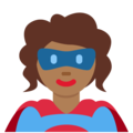 Superhero: Medium-Dark Skin Tone on Twitter Twemoji 11.1