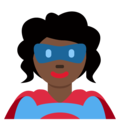 Superhero: Dark Skin Tone on Twitter Twemoji 11.1