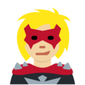 Supervillain: Medium-Light Skin Tone on Twitter Twemoji 11.1