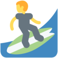 Person Surfing on Twitter Twemoji 11.1