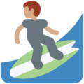 Person Surfing: Medium Skin Tone on Twitter Twemoji 11.1