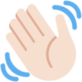 Waving Hand: Light Skin Tone on Twitter Twemoji 11.1
