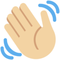 Waving Hand: Medium-Light Skin Tone on Twitter Twemoji 11.1
