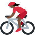 Woman Biking: Dark Skin Tone on Twitter Twemoji 11.1