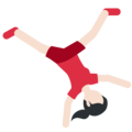 Woman Cartwheeling: Light Skin Tone on Twitter Twemoji 11.1