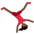 Woman Cartwheeling: Dark Skin Tone on Twitter Twemoji 11.1