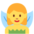 Woman Fairy on Twitter Twemoji 11.1