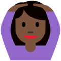 Woman Gesturing OK: Dark Skin Tone on Twitter Twemoji 11.1