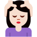 Woman Getting Massage: Light Skin Tone on Twitter Twemoji 11.1
