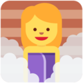 Woman in Steamy Room on Twitter Twemoji 11.1