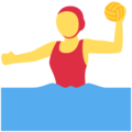 Woman Playing Water Polo on Twitter Twemoji 11.1