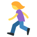 Woman Running on Twitter Twemoji 11.1