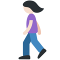 Woman Walking: Light Skin Tone on Twitter Twemoji 11.1