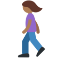 Woman Walking: Medium-Dark Skin Tone on Twitter Twemoji 11.1