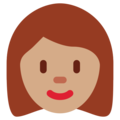 Woman: Medium Skin Tone on Twitter Twemoji 11.1