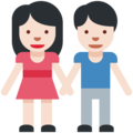 Man and Woman Holding Hands, Type-1-2 on Twitter Twemoji 2.2.1