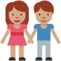 Man and Woman Holding Hands, Type-4 on Twitter Twemoji 2.2.1