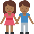 Man and Woman Holding Hands, Type-5 on Twitter Twemoji 2.2.1