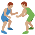 Men Wrestling, Type-4 on Twitter Twemoji 2.2.1
