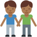 Two Men Holding Hands, Type-5 on Twitter Twemoji 2.2.1