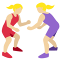 Women Wrestling, Type-3 on Twitter Twemoji 2.2.1